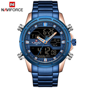 Stainless Army Military Wrist Watch NAVIFORCE Luxury Mens Watch Waterproof Quartz Clock