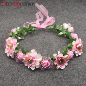 Baby Girls Crown Flower Wreath Hairband