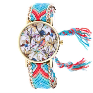 Dreamcatcher Friendship Bracelet Watch Ladies Rope Quartz Watche Handmade Braided
