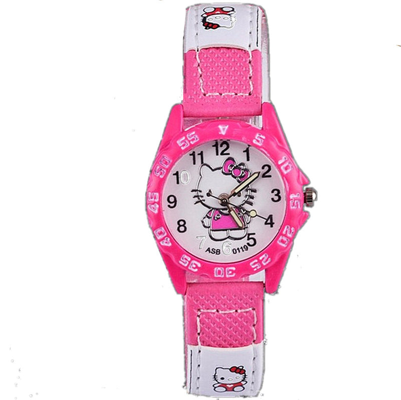 Hello Kitty Cartoon Watches Boy Baby Baby Girl Nylon