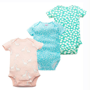 Times' Favourite 3PCS/LOT Baby Boys Girls Summer Clothes 2018 New Fashion 100% Cotton Baby Bodysuit Short Sleeve Newborn Baby