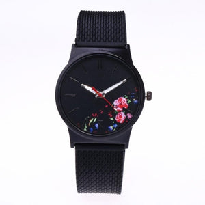 Black Flower Ladies Luxury Exquisite Female Quartz Watch