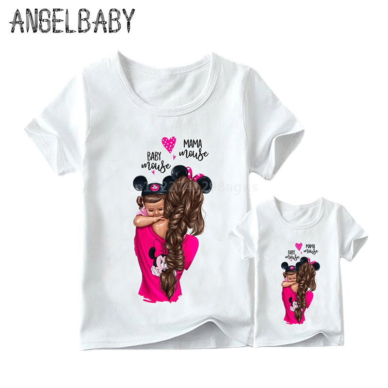 Matching Family Outfits Super Mom and Son or Daughter Print for Boys & Girls