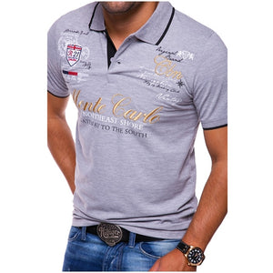 ZOGAA Polo Shirts Men's Fashion Personality Short Sleeve Shirt Male Printing Casual Polos Shirts Brand Quality Tops Tees 2019