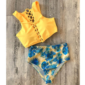 High Waist Bikini Swimwear Summer Beach Wear