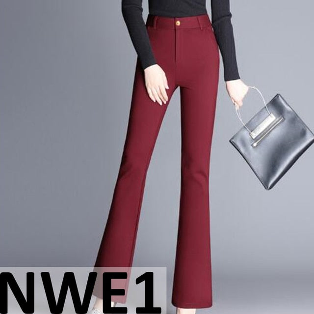 MLCRIYG  2018 New Thickened Thermal Casual High-waist Small-footed Pencil Pants NWE
