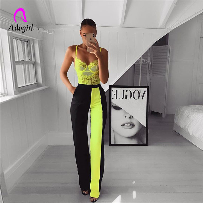 Black Modern Lady Elegant Minimalist Straight Pants Middle Waist Casual Women Pants Summer Autumn Office Lady Workwear Trousers