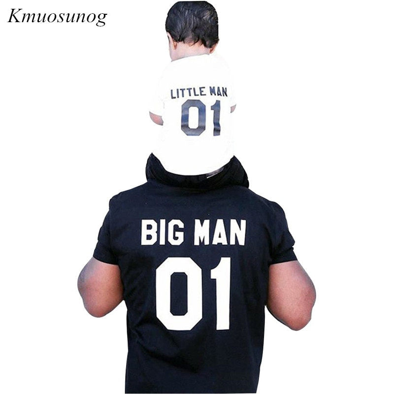Family Men Boy t shirt Father and Son Clothes Top Tee 2019