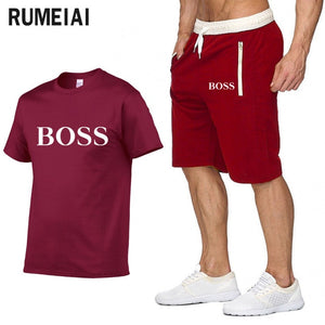 New Fashion Sportsuit and Tee Shirt Set Tracksuit Casual Brand Tee Shirts