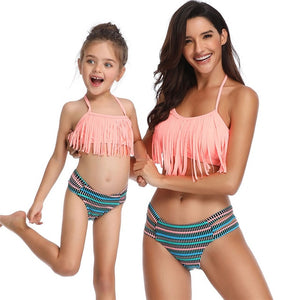 mother and daughter swimsuit mommy and me swimwear bikini family matching clothes outfits look mom mum baby dresses clothing