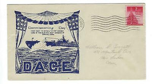 VEGAS - 1943 USA Submarine Dace Commission Cover, Groton, CT - FD283