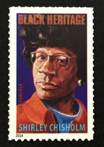 2014 Shirley Chisholm Single Forever Postage Stamp - Sc# 4856 - DR160a