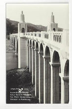 Load image into Gallery viewer, Vintage USA Real Photo Postcard - Rogue River Bridge, Gold Beach, OR - (AO5)
