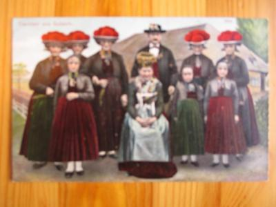 1911 Germany Postcard - Costumes Of Gutach (ZZ105)