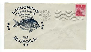 VEGAS - 1943 Submarine USS Bluegill Launch Cover - Groton - ES62