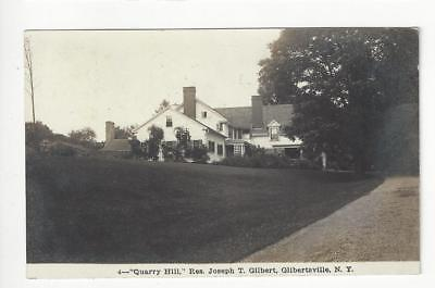 Posted 1913 USA Photo Postcard - Quarry Hill, Gilbertsville, NY (AT116)