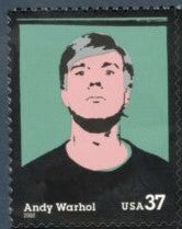 2002 - Andy Warhol Single 37c Postage Stamp - Sc# 3652 - MNH, OG - DC125a
