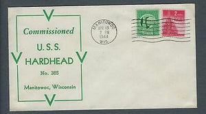 VEGAS - 1944 USA Submarine USS Hardhead Commission Cover - Manitowoc, WI - EX265