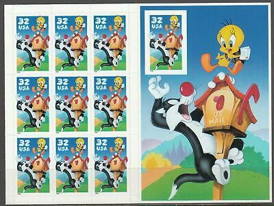 VEGAS -1998 Tweety & Sylvester *Error* 10th Stamp Imperf -Fresh - Sc# 3205 -ER57