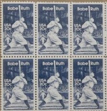 Load image into Gallery viewer, 1983 Babe Ruth Baseball Player Block Of 6 As One Of The Photos Sc# 2046 - MNH - DS168