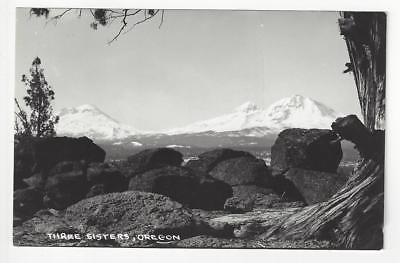 Vintage USA Real Photo Postcard - Three Sisters, OR - (AO11)