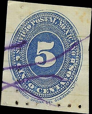 VEGAS - 1887 Mexico Sc# 204 - Used - Perf 6 - (FB23)