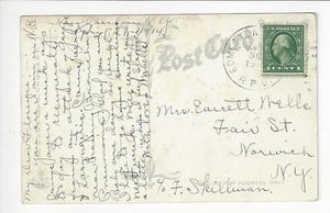 Posted 1914 USA Postcard - High School, New Berlin, NY - Read Rev (AT130)
