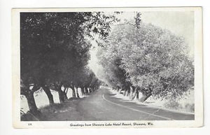 Vintage Photo Postcard - Shawano Lake Hotel Resort, Shawano, WI (AH106)