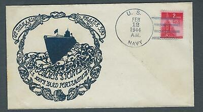 VEGAS - 1944 Submarine Plaice - Commission Cover - Portsmouth, NH - FD201