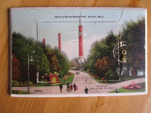 1907 USA Foldout Postcard- Water Works Park, Detroit, MI - See All Photos (AT21)