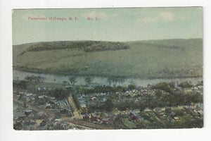 Posted 1916 USA Postcard - Panorama Of Owego, NY - Read Reverse (AT89)