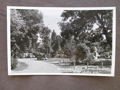 1940s USA Real Photo Postcard- Municipal Park, Pierre, SD - Miller Studio (WW17)