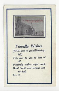 Posted 1912 USA Postcard - St Andrews Church, New Berlin, NY (AT132)