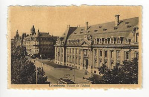 1948 Luxembourg To France Photo Postcard - Arbed Palace (AC56)