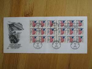 VEGAS 1994 USA First Day Old Glory -Rare Booklet Pane! -Artcraft Cache- Sc# 2887