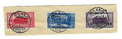 VEGAS - 1929 Italy High $ Short Set! Sc# 235, 236, 237 - Cat= $260! - (CY36)