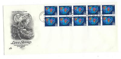 1991 USA First Day -Full Booklet Pane - Artcraft Cache - Scott# 2536 - (CB18)