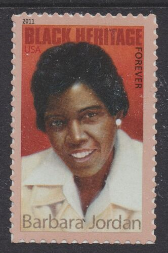 2011 Barbara Jordan Forever Single Postage Stamp - Sc# 4565 - DR152a