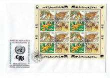 Load image into Gallery viewer, 1995 United Nations Geneva- # 264-267 Full Sheet! Quality First Day Cover (CO94)