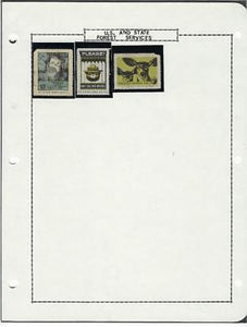 Small Collection of Forest Services Poster Stamps - 2 Are Flawed - (CG71)