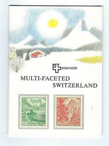 "VEGAS- 1981 ""Multi-Faceted"" Switzerland Souvenir Booklet With MNH Stamps (DQ101)"