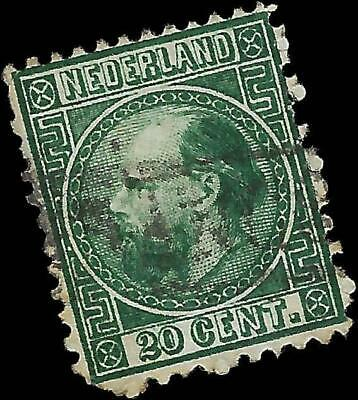 VEGAS - 1867 Netherlands Sc# 10 - 20 Cents - (FB31)