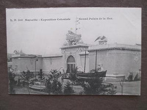 Probably 1906 Marseille Colonial Expo Photo Postcard - Grand Palace (VV35)