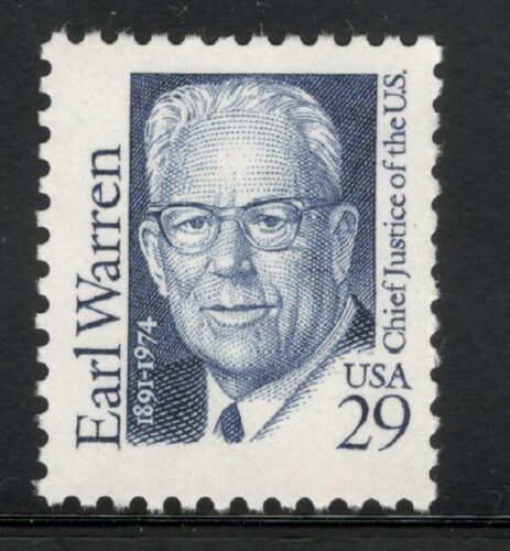 1986 Earl Warren Chief Justice Single 29c Postage Stamp Sc# 2184 - MNH, OG - CW294b
