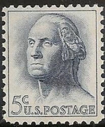 1962 George Washington Single 5c Postage Stamp - MNH, OG - Sc# 1213