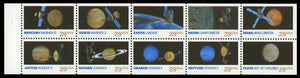 1991 Space Exploration Booklet Pane Of 10 29c Postage Stamps - Sc# 2568-2577 - MNH, OG - CX537