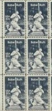 1983 Babe Ruth Baseball Player Block Of 6 As One Of The Photos Sc# 2046 - MNH - DS168