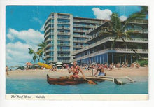 Load image into Gallery viewer, 1976 USA Photo Postcard - Reef Hotel, Waikiki Beach, Hawaii - Creases (AM53)