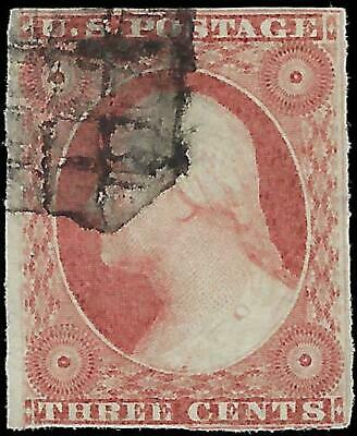VEGAS - 1851-57 - Sc# 10 3c - Used - Fancy Cancel - Good Centering - EN45