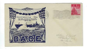 VEGAS - 1943 Submarine Dace Commission Cover - Groton, CT - FD228